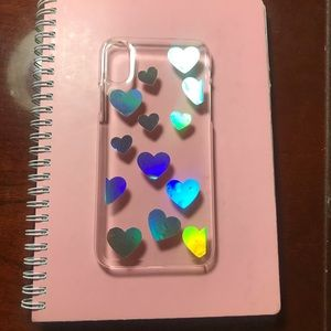 Customized IPhone X Holographic hearts Case